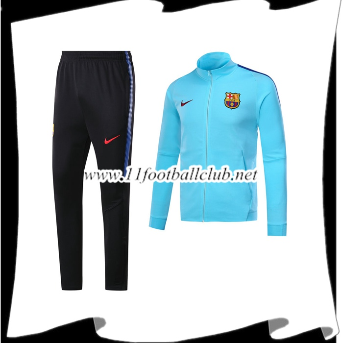 Le Nouveaux Survetement FC Barcelone Bleu Ensemble - Veste 2017/2018 Authentic