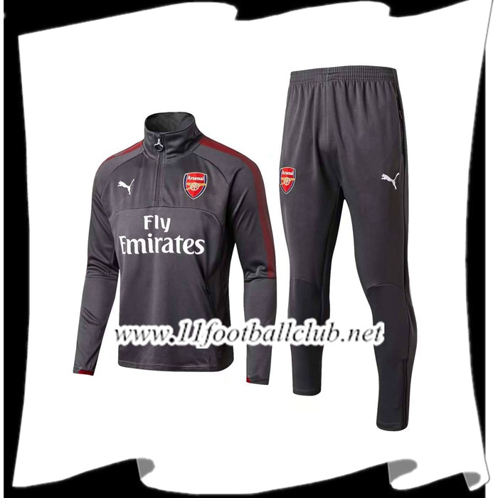 Le Nouveau Survetement de Foot Arsenal Gris 2017/2018 Ensemble Officiel