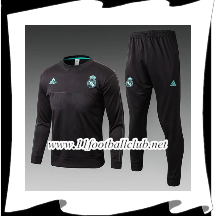 Magasin De Ensemble Survetement Real Madrid Enfant Noir 2017/2018 Pas Cher Shop