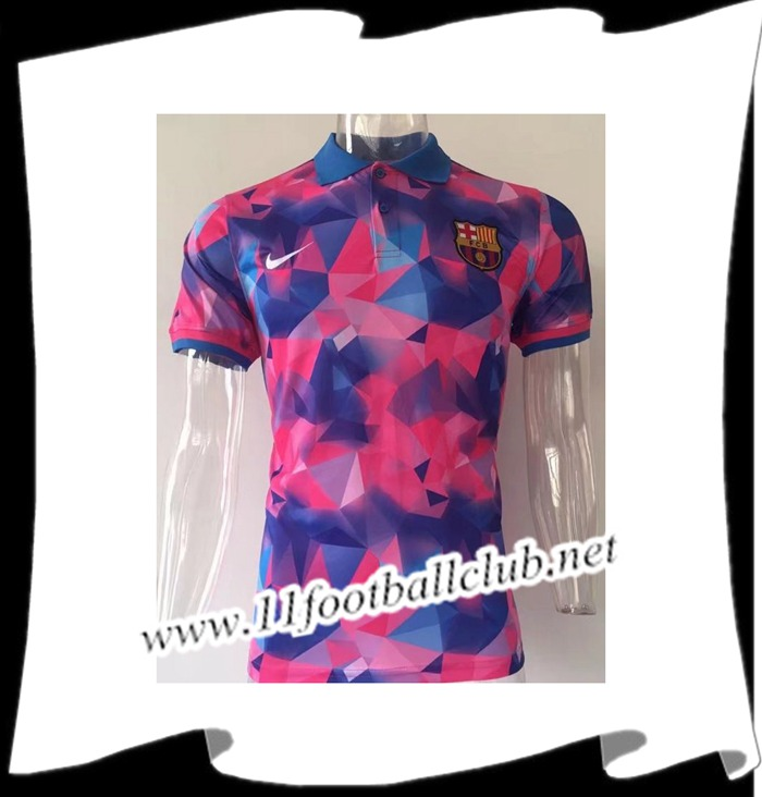 Le Nouveaux Polo de Foot FC Barcelone Diamant Rose 2017/2018 Junior