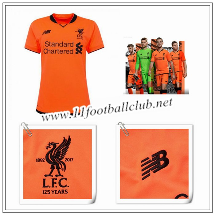 Le Nouveaux Maillot de Liverpool Femme Third Orange 2017/2018 Authentic