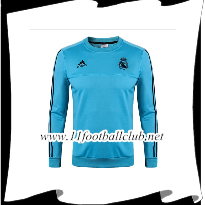 Le Nouveau Sweatshirt Training Real Madrid Bleu 2017/2018 Officiel