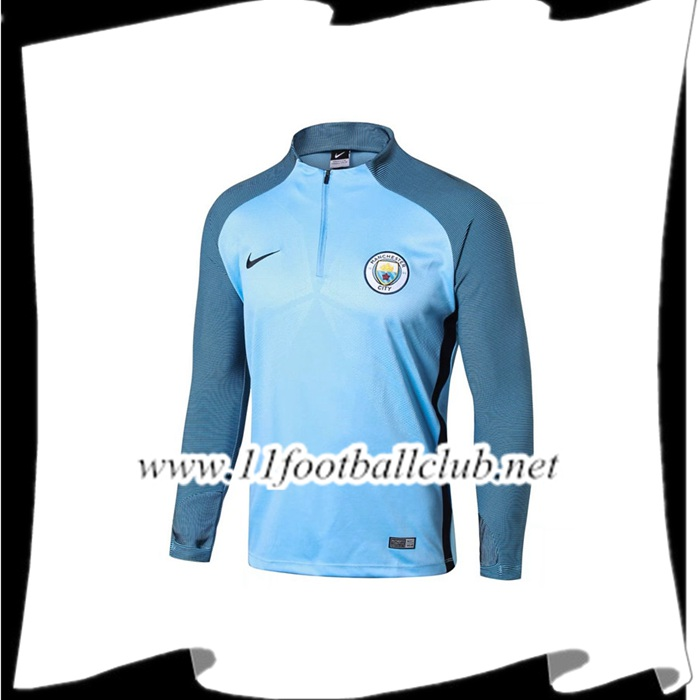 Le Nouveau Sweatshirt Training Manchester City Bleu Strike Drill 2017/2018 Personnalisable