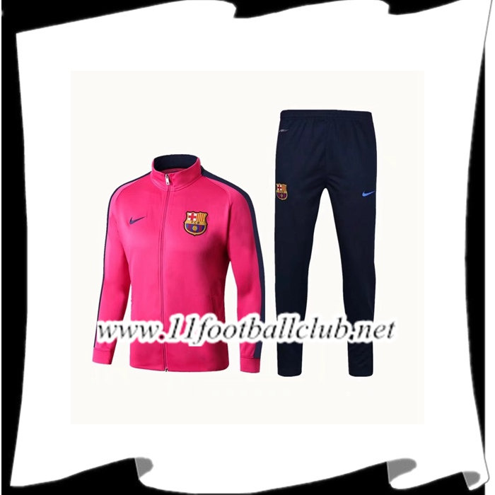 Le Nouveau Survetement de Foot - Veste FC Barcelone Rose Ensemble 2017/2018 Vintage