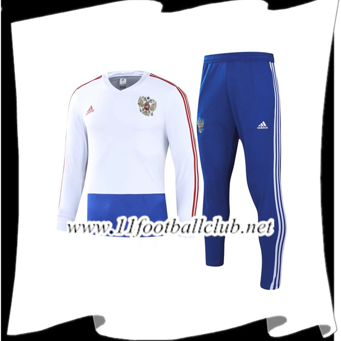 Le Nouveaux Survetement de Foot Russie Blanc Ensemble 2018/2019 Authentic