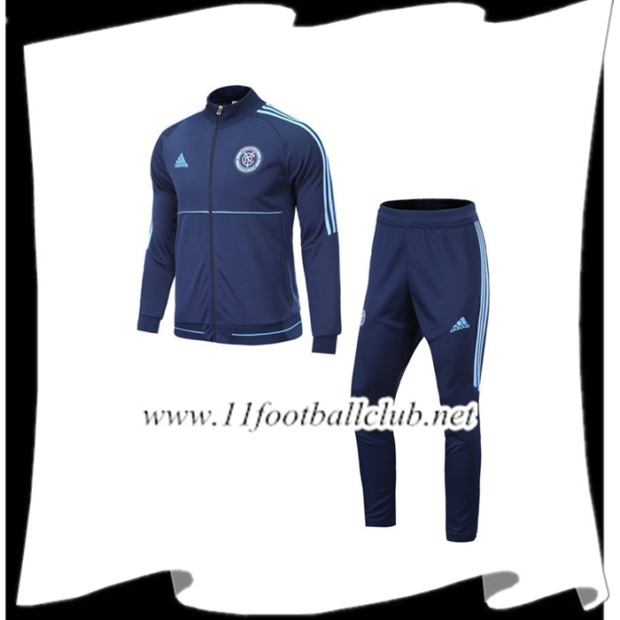 Le Nouveau Survetement de Foot FC New York City Bleu Marin Ensemble - Veste 2017/2018 Officiel
