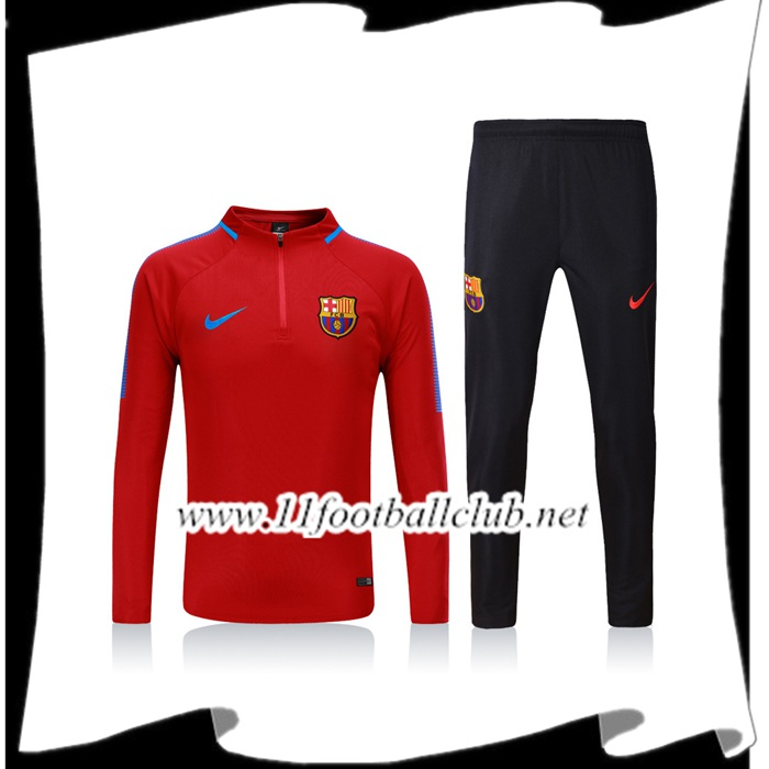 Le Nouveau Survetement de Foot FC Barcelone Rouge Ensemble - Veste 2017/2018 Vintage