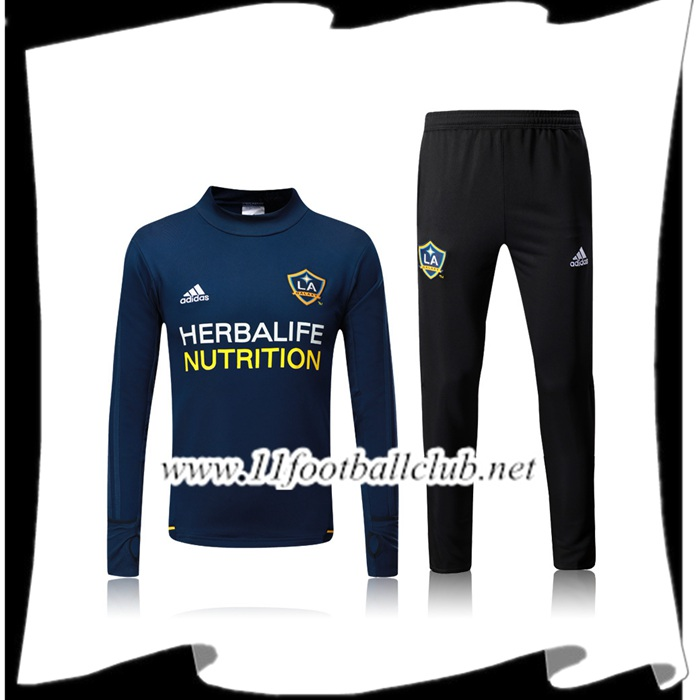 Le Nouveau Survetement de Foot Los Angeles Galaxy Bleu Marine Ensemble 2017/2018 Personnalisable
