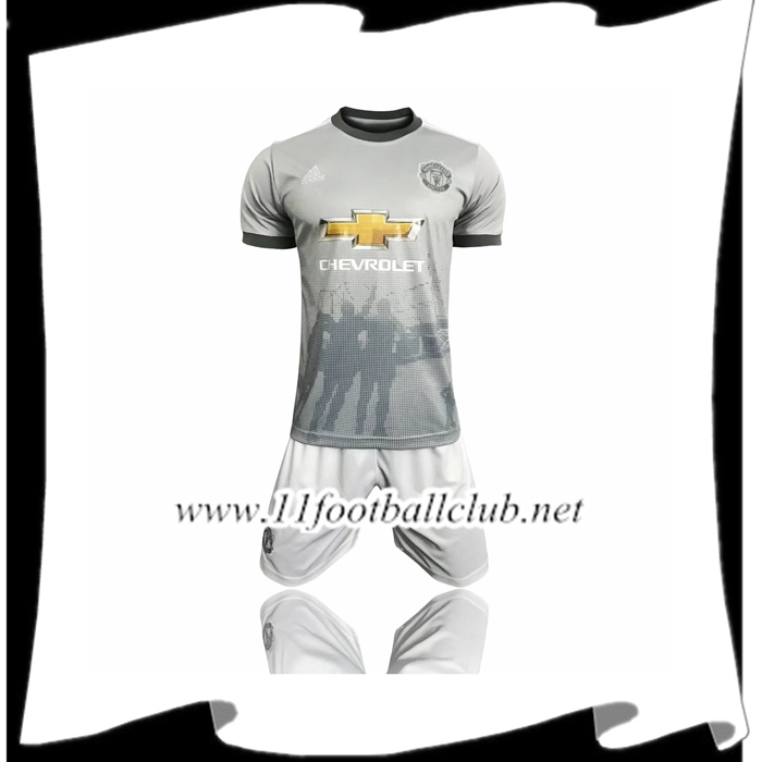 Le Nouveau Maillot de Foot Manchester United Third + Short 2017/2018 Personnalisable