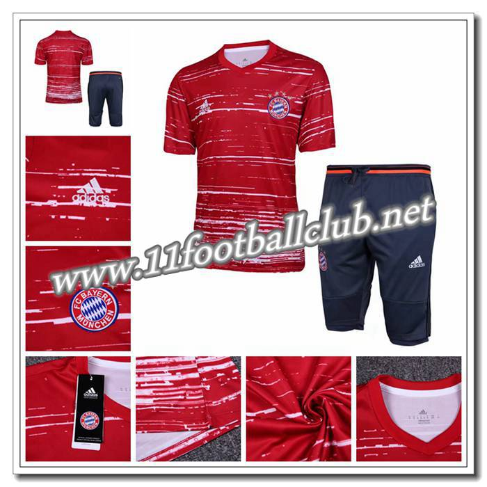 Le Nouveau PRÉ MATCH Training Manchester United + Pantalon 3/4 Rouge 2016 2017 Personnalisable