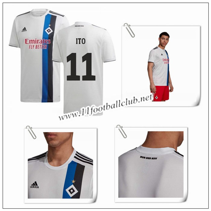 Le Nouveau Maillot du Hamburger SV ITO 11 Domicile Blanc 2019/20 Authentic