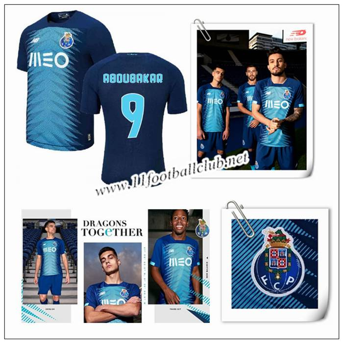 Le Nouveau Maillot du FC Porto ABOUBAKAR 9 Third Bleu 2019/20 Authentic