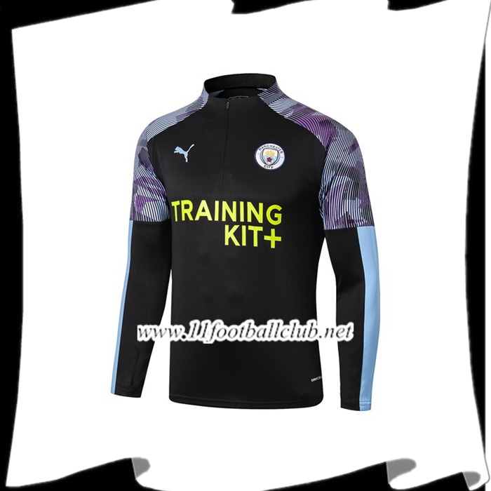 Le Nouveaux Sweatshirt Training Manchester City Bleu/Noir 2019/20 Authentic
