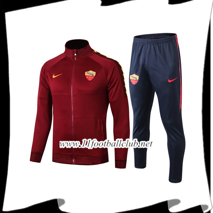 Le Nouveau Ensemble Veste Survetement AS Roma Brown 2019/20 Officiel