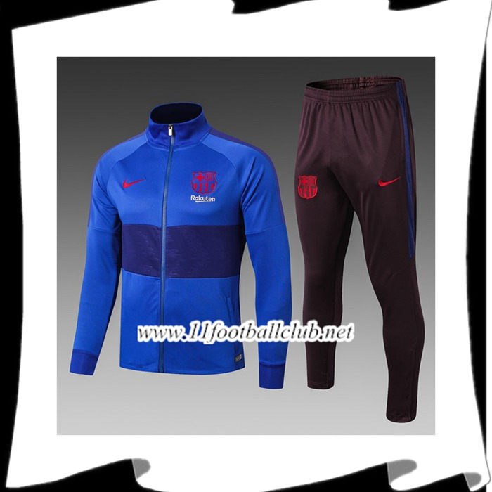 Le Nouveau Ensemble Veste Survetement FC Barcelone Enfant Bleu 2019/20 Officiel