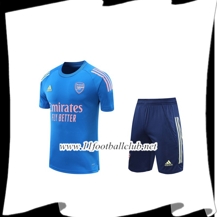 Le Nouveaux Ensemble Training T-Shirts Arsenal + Shorts Bleu 2020/2021