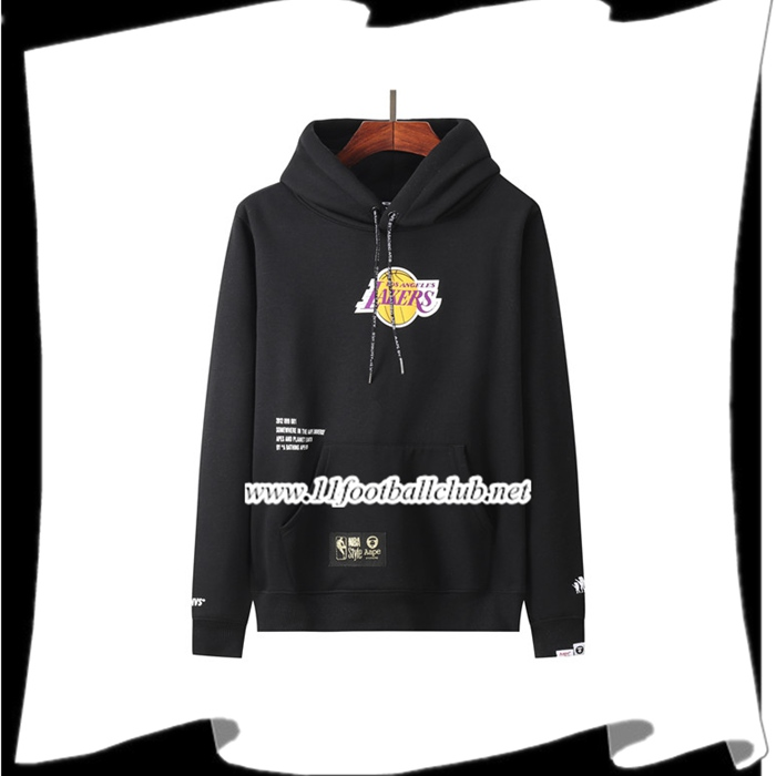 Le Nouveau Sweatshirt Training Los Angeles Lakers Noir 2021