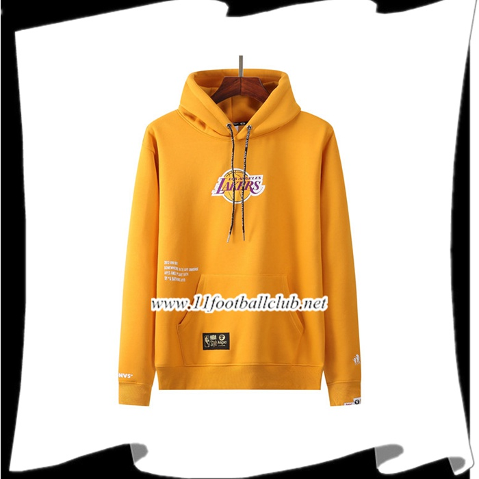 Le Nouveaux Sweatshirt Training Los Angeles Lakers Jaune 2021