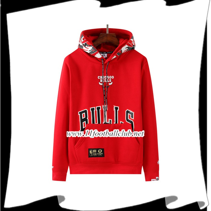 Le Nouveau Sweatshirt Training Chicago Bulls Rouge 2021
