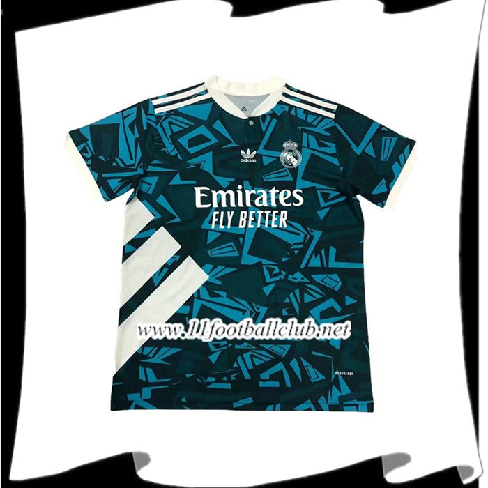Nouveau Training T-Shirts Real Madrid Noir/Bleu 2021/2022