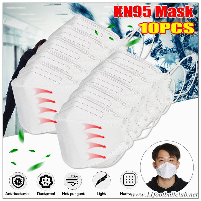 Masque Anti Pollution Ffp3 Filtrant Air Kn95 Blanc 10 Pieces Authentic