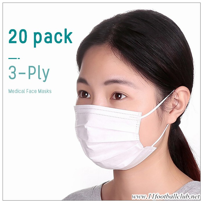 Masque Anti Pollution Jetable Cryptographie Blanc 20 Pieces Officiel