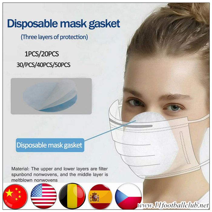 20pcs Filtre Masque Jetable Tampon En Coton Cryptographie Officiel