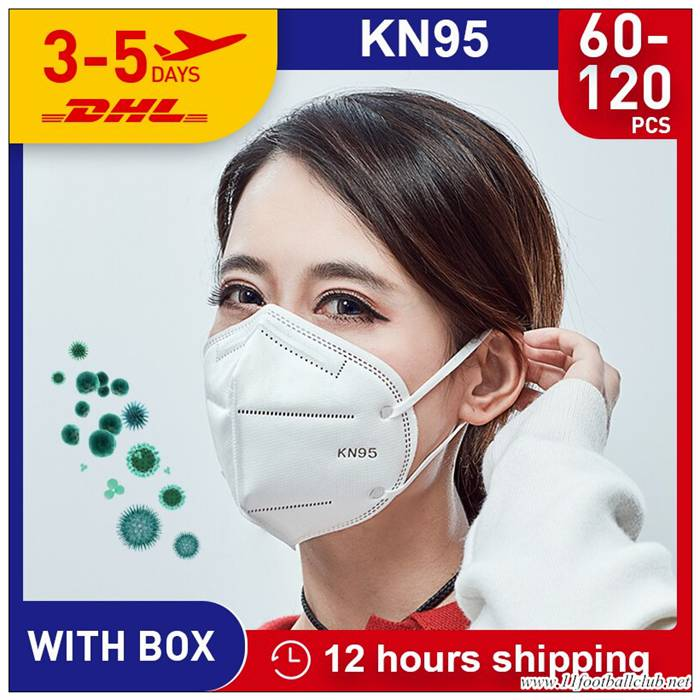 60pcs Norme N95 Masques Kn95 Protection Respiratoire Grippe FFP3