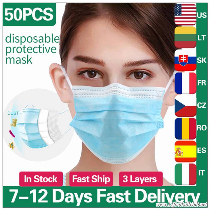 50pcs Inrs Masque Anti Pollution Jetable Ventilé Cryptographie