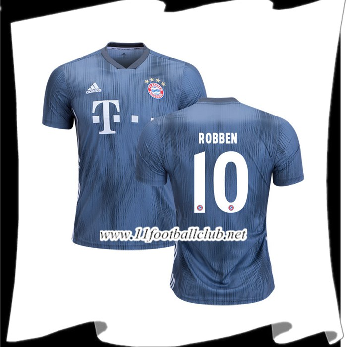 Site De Maillot De Foot Bayern Munich Arjen Robben 10 Third Argent 2018 2019 Junior