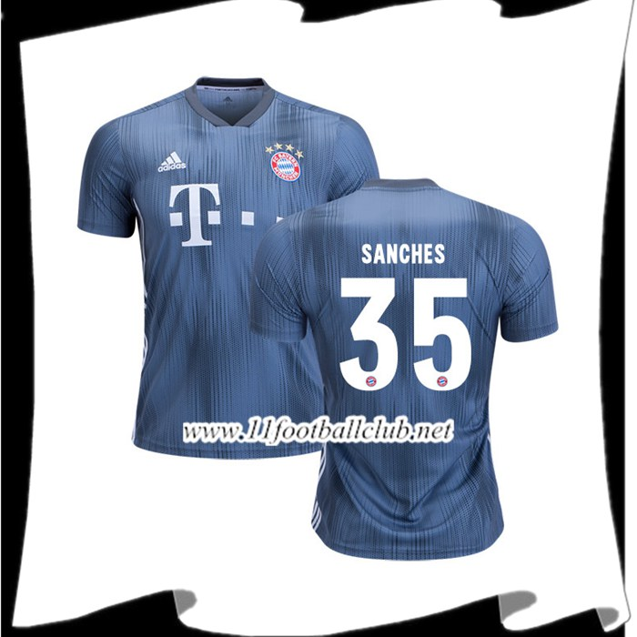 Jeux Les Maillots Du Bayern Munich Sanches 35 Third Argent 2018 2019 Authentic
