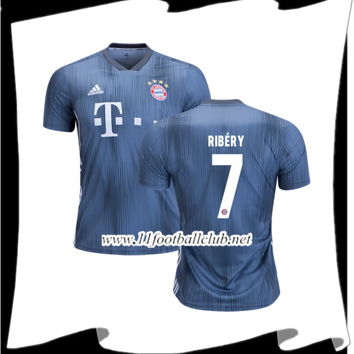 Prix Maillot De Foot Bayern Munich Ribery 7 Third Argent 2018 2019 Officiel