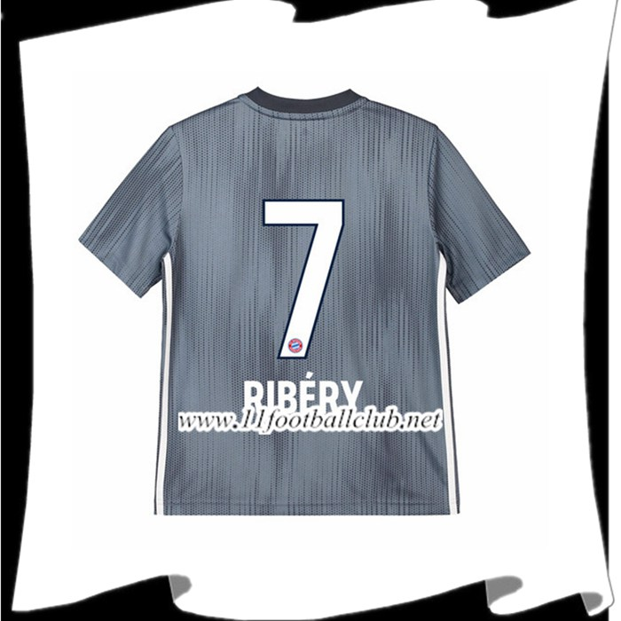 Magasin De Maillot Bayern Munich Ribery 7 Enfant Third Argent 2018 2019 Officiel