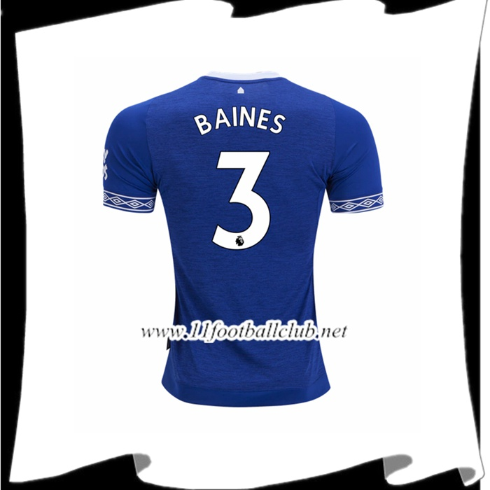 Magasin De Le Maillot Du Everton Leighton Baines 3 Domicile Bleu 2018 2019 Officiel