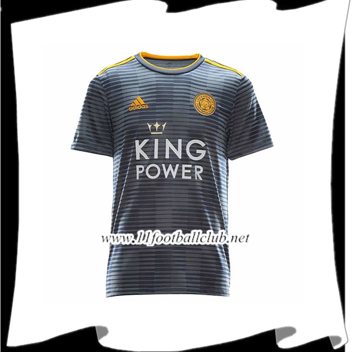 Site D Maillot De Foot Du Leicester City Exterieur Gris 2018 2019 Officiel