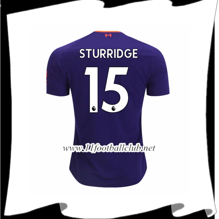 Jeu Maillot De Liverpool Sturridge 15 Exterieur Violet 2018 2019 Authentic