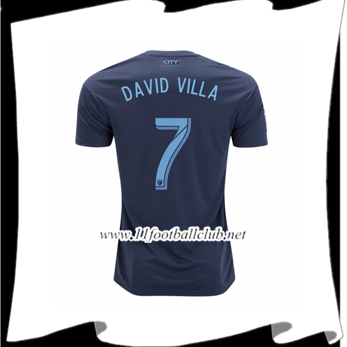 Jeu De Maillot Du New York City David Villa 7 Exterieur 2018 2019 Authentic