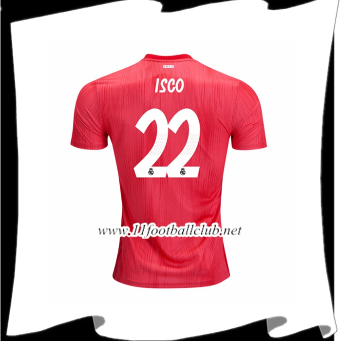 Prix D Un Maillot Real Madrid Isco 22 Third Rouge 2018 2019 Authentic