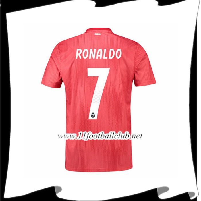 Nouveau Maillot Real Madrid Cristiano Ronaldo 7 Third Rouge 2018 2019 Officiel