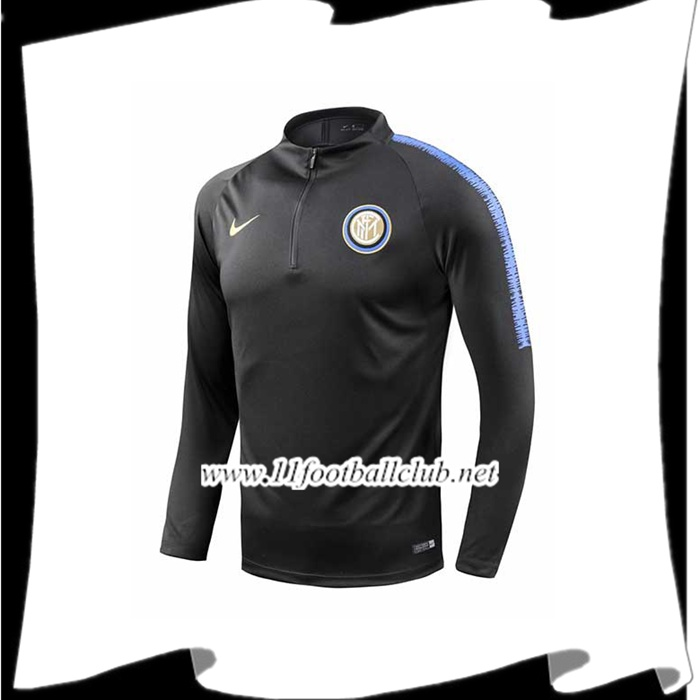 Boutique De Sweatshirt Training Inter Milan Noir/Bleu 2018/2019 Pas Cher Officiel