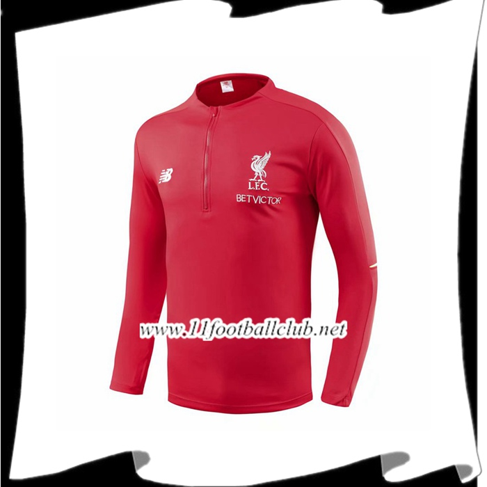 Flocage Sweatshirt Training Liverpool Rouge 2018/2019 Pas Cher Shopping