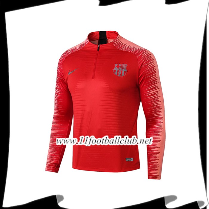 Le Nouveau Sweatshirt Training Barcelone Rouge Strike Drill 2018/2019 Personnalisable