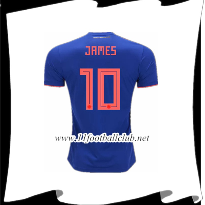 Le Nouveau Maillot Football Colombie James 10 Exterieur Royal Bleu 2018/2019