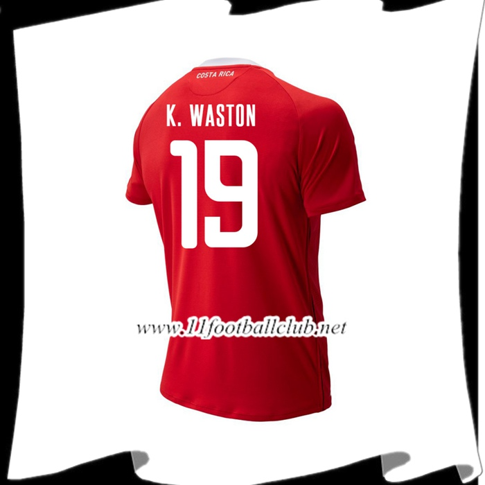 Nouveau Maillot Football Costa Rica K. WASTON 19 Domicile Rouge 2018 2019