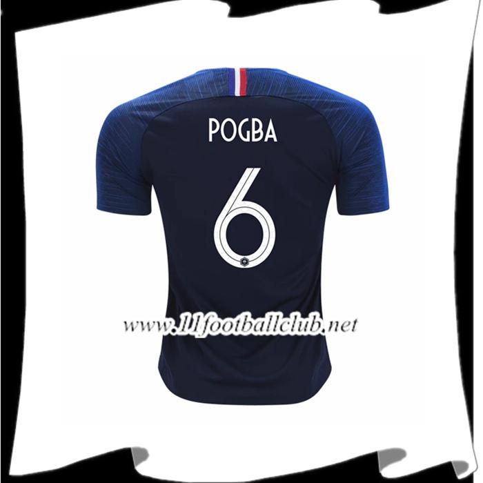 2ab7991144a7f Nouveaux Maillot France Paul Pogba 6 Domicile Bleu Coupe Du Monde 2018