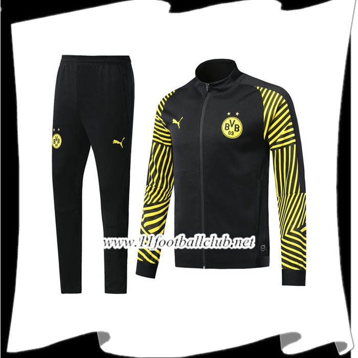 Boutique De Ensemble Survetement de Foot - Veste Dortmund BVB Noir/Jaune 2018/2019 Pas Cher Officiel
