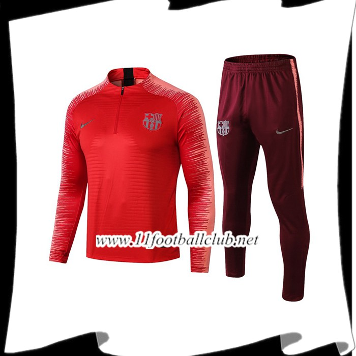 Le Nouveau Ensemble Survetement de Foot Barcelone Rouge Strike Drill 2018/2019 Personnalisable