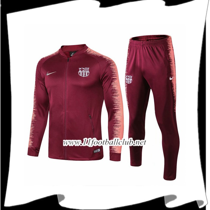 Le Nouveaux Ensemble Survetement de Foot - Veste Barcelone Rouge Strike Drill 2018/2019 Flocage