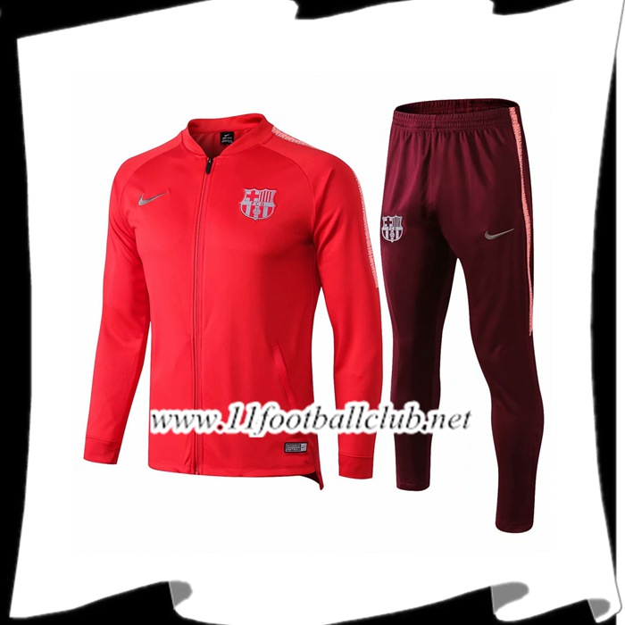 Le Nouveaux Ensemble Veste Survetement FC Barcelone Rouge 2018/2019 Junior