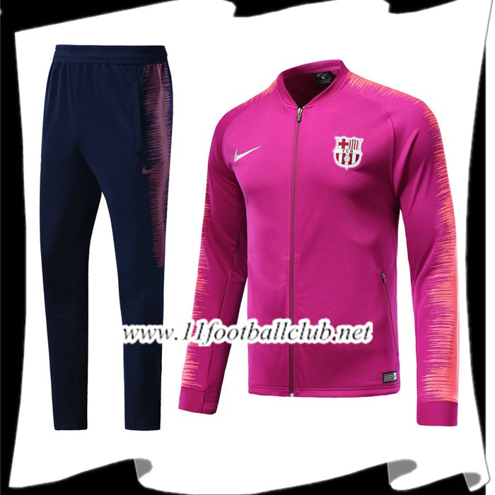 Le Nouveaux Ensemble Survetement Foot - Veste FC Barcelone Rose 2018/2019 Authentic